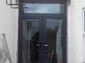 Anthracite grey aluminium door
